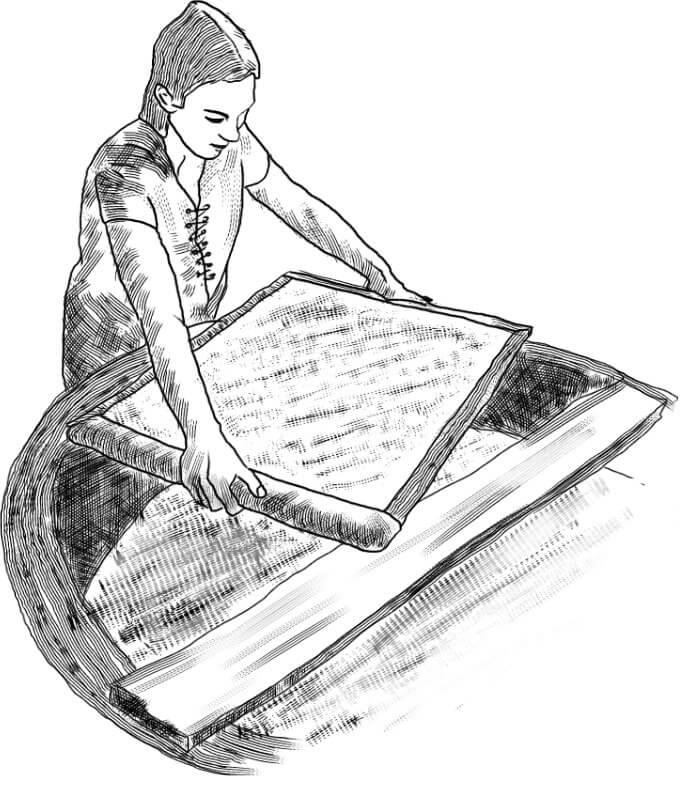 Fabrication artisanale de papier à Fontaine de Vaucluse